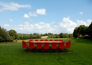 Meeting room in forest 02